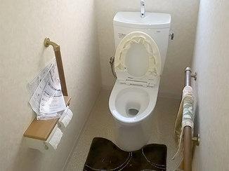 トイレリフォーム 暖かく、使いやすくなったトイレ