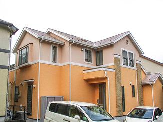 外壁・屋根リフォーム 明るく際立つ色になった北欧風の外壁と屋根