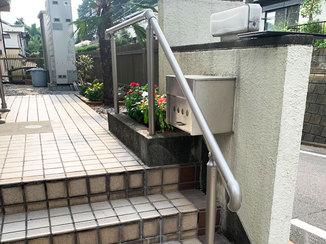 小工事 ちょうど良い高さの使いやすい階段手すり