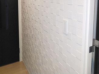 内装リフォーム おしゃれに調湿できるエコカラットの壁