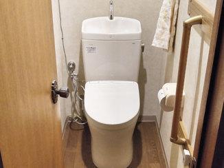 トイレリフォーム 段差を無くし出入りが楽になった、お掃除もしやすいトイレ