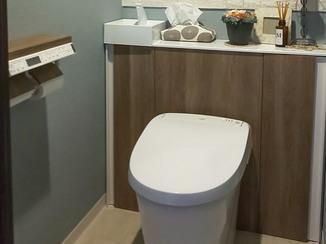 トイレリフォーム 色味にこだわり、イメージチェンジしたトイレ