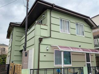 外壁・屋根リフォーム 緑色にまとめ、キレイに仕上げた外壁&屋根