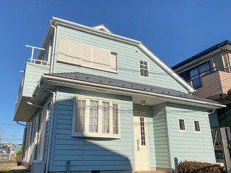 外壁・屋根リフォーム さわやかにイメージチェンジした外装