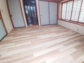 内装リフォーム 床の沈みを解消し、和室から洋室へリフォーム